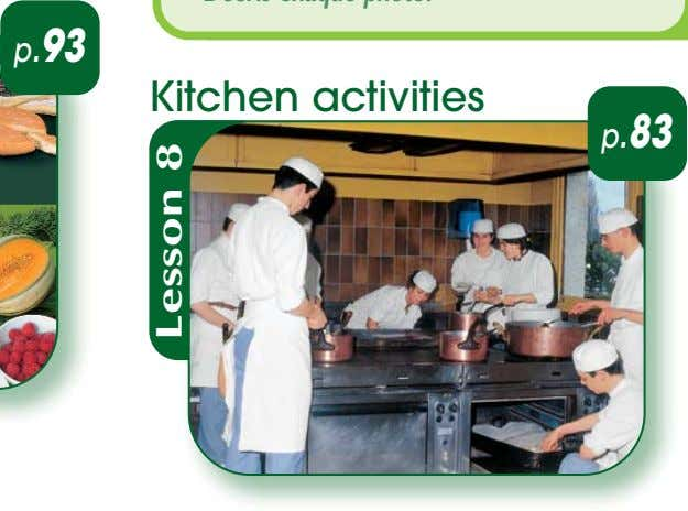 p.93 Kitchen activities p.83 Lesson 8