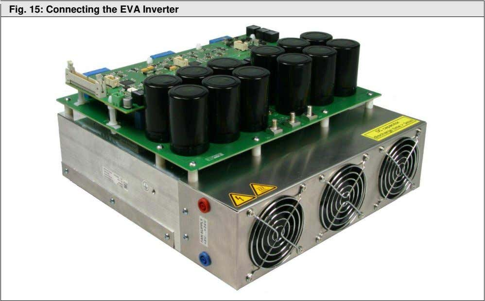 Fig. 15: Connecting the EVA Inverter