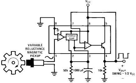 Circuits Precision two-shot output frequency equals twice input frequency. Pulse height = V Z E N