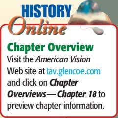 HISTORY HISTORY Chapter Overview Chapter Overview Visit the American Vision Visit the American Vision Web site