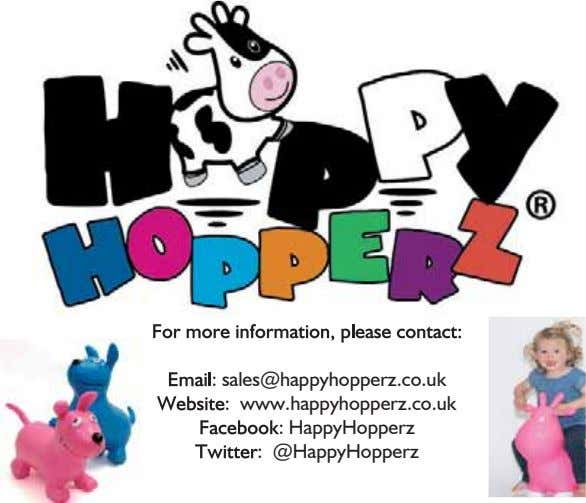 : sales@happyhopperz.co.uk : www.happyhopperz.co.uk : HappyHopperz : @HappyHopperz