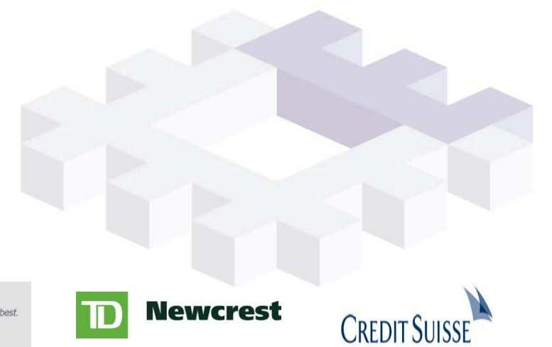 Inc. – Vice President, Portfolio Trading, TD Newcrest – Director, Credit Suisse 2 • Lou Mouaket