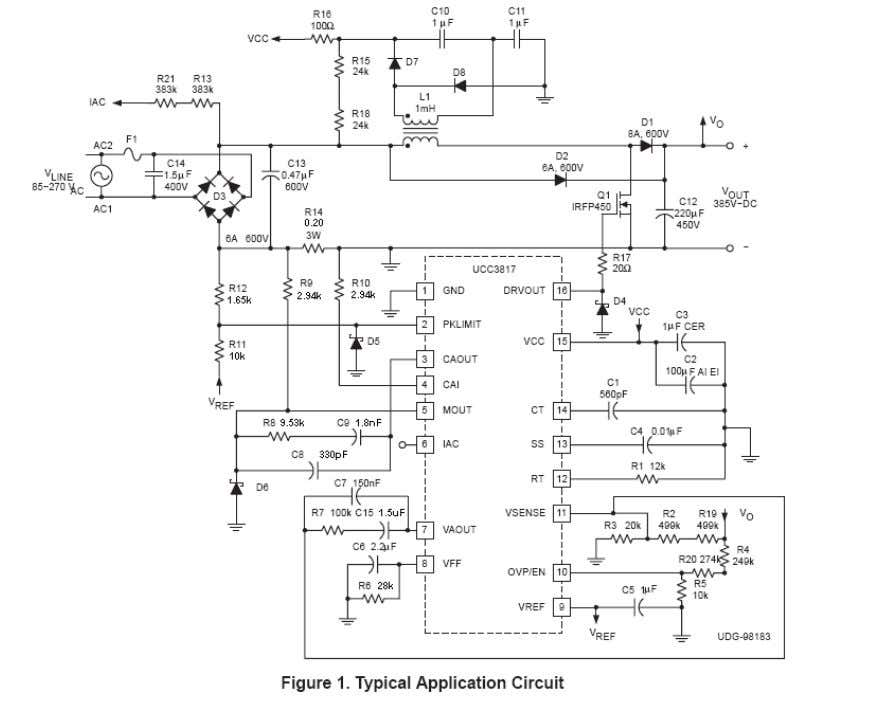UCC3817/8A Design Procedure Applications Engineer UCC3817 MathCAD Design Tool 7-29-08 I. Power Factor Pre regulator Design: