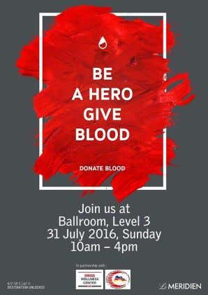 mission to extend their blood bank for their patients. Image 1.17 Blood Donation Campaign poster It