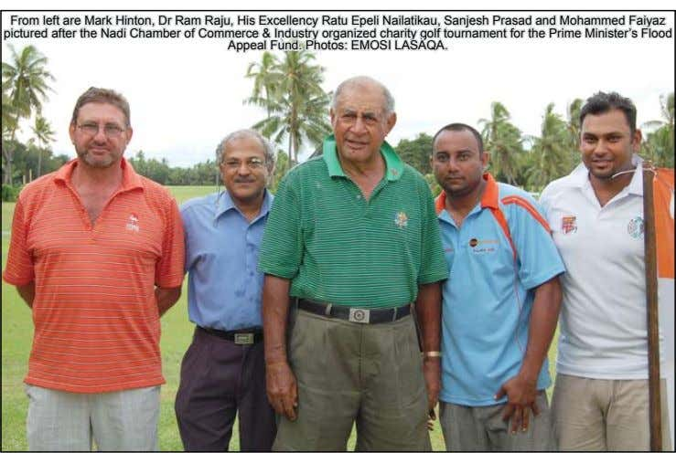 From left are Mark Hinton, Dr Ram Raju, His Excellency Ratu Epeli Nailatikau, Sanjesh Prasad and