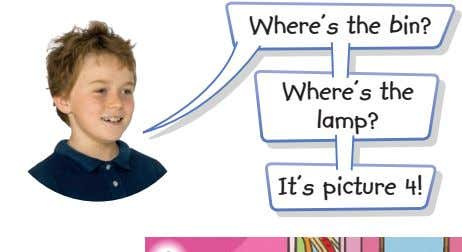 Where's the bin? Where's the lamp? It's picture 4!