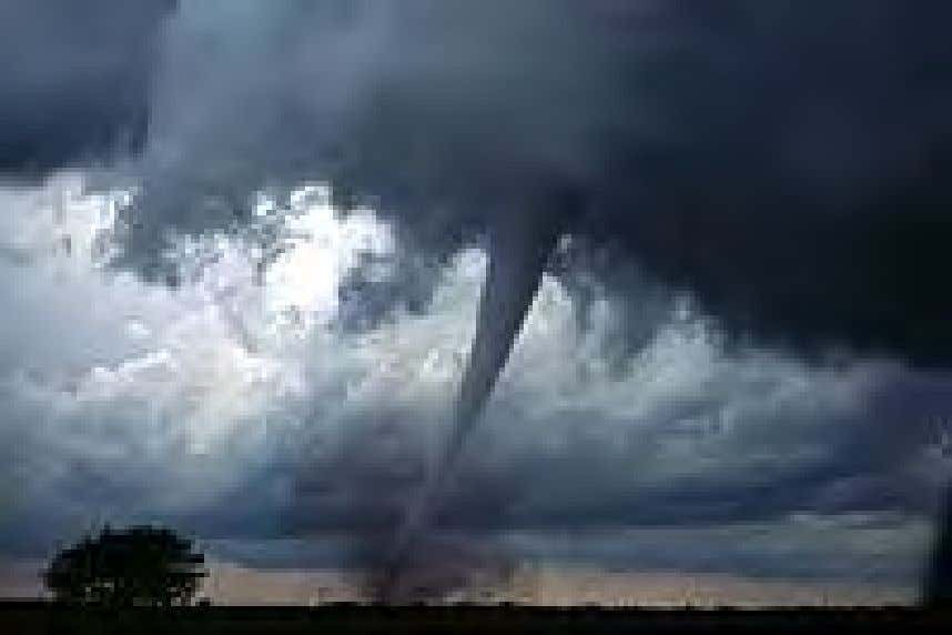 A tornado in central Oklahoma. A supercell thunderstorm. The planetary climate is a measure of