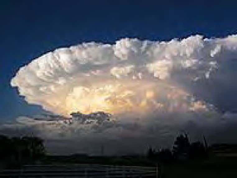 A tornado in central Oklahoma. A supercell thunderstorm. The planetary climate is a measure of the