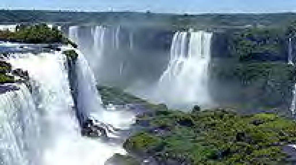 have been undergoing noticeable changes. Water on Earth Panorama of the Iguazu waterfalls in Brazil. Water