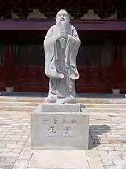 in such fields as the philosophy of religion and theology. Statue of Confucius on Chongming Island