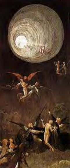 physicists have also made several allusions to the subject. Hieronymus Bosch's Ascent of the Blessed depicts