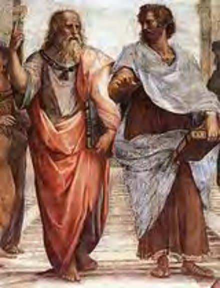 Ancient Greek philosophy Plato and Aristotle in The School of Athens fresco, by Raphael. Platonism Plato