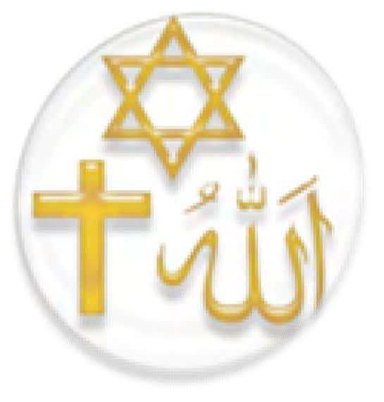 not defined by humans. Western and Middle Eastern religions Symbols of the three main Abrahamic religions