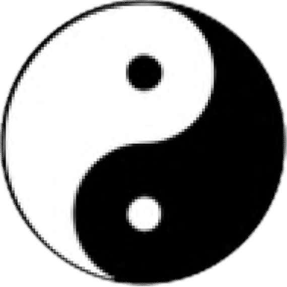 Taoism Taijitu symbolizes the unity of opposites between yin and yang. The Taoists' cosmogony emphasizes the