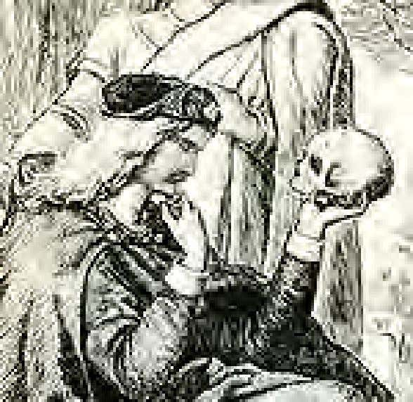 Hamlet with Yorick's skull In Monty Python's The Meaning of Life , there are several
