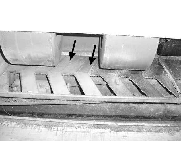 "Picture 3 ""Pan Louver"" Airflow Control Inside Univents, Note Closed Louver Slots in Rear Limiting Fresh"