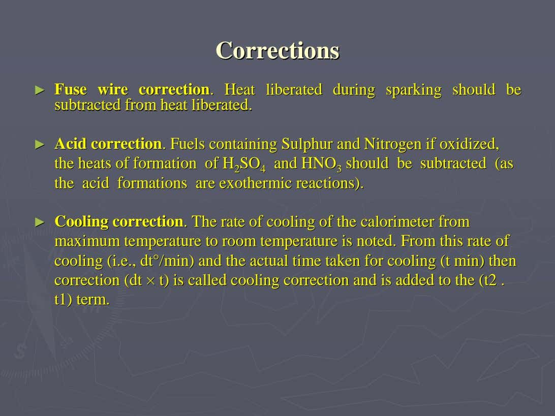 CorrectionsCorrections ►► FuseFuse wirewire correctioncorrection HeatHeat liberatedliberated duringduring