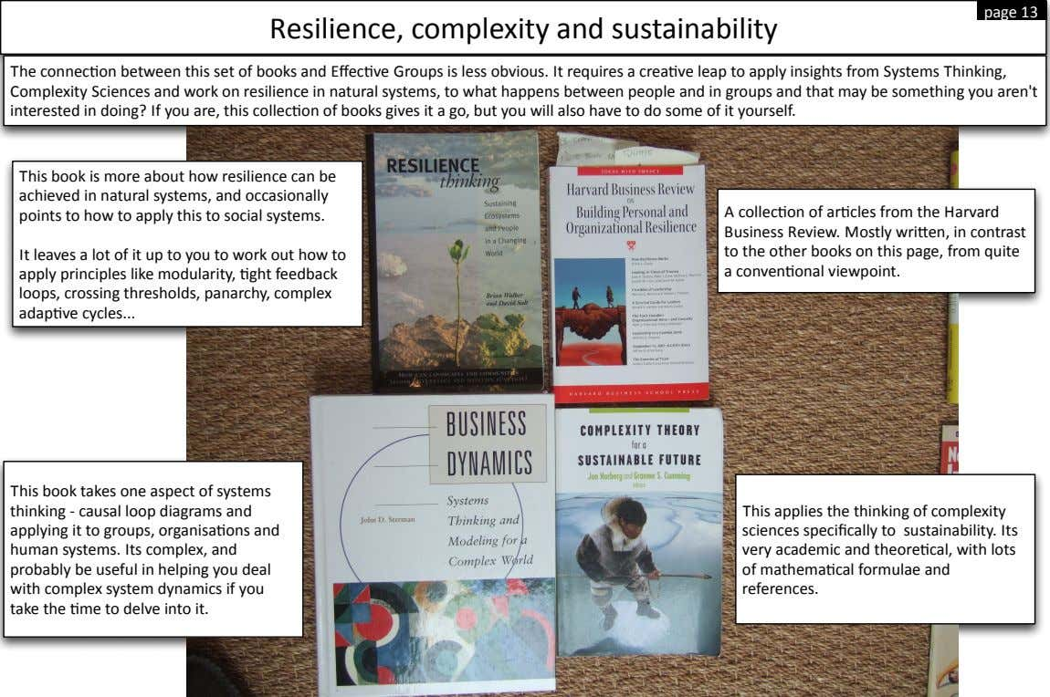 page$13 Resilience,$complexity$and$sustainability
