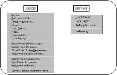 ASSIGN OPTIONS