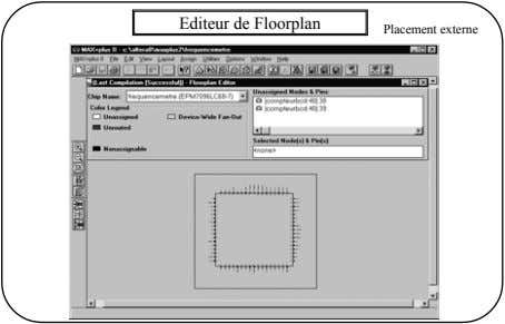 Editeur de Floorplan Placement externe