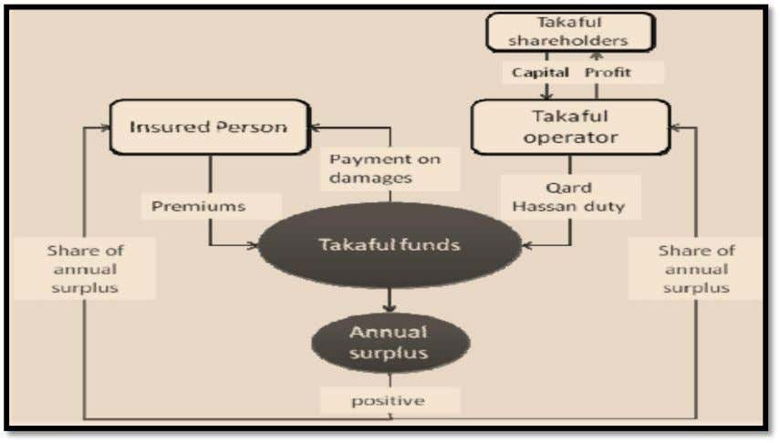 in the profits or losses generated by his/ her funds. Figure 11 -- Takaful model based