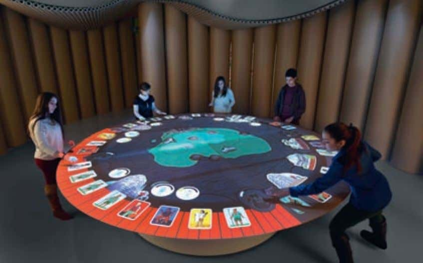 J Some of the museum's new exhibits put visitors in the middle of humanitarian action. Here,