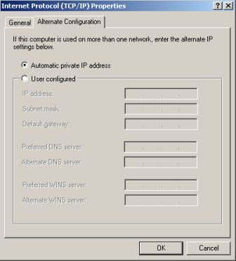 and reboot the APIPA connection is not possible anymore. Figure 2: Windows 98, ME, 2000 network