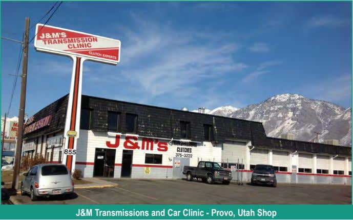 J&M Transmissions and Car Clinic - Provo, Utah Shop