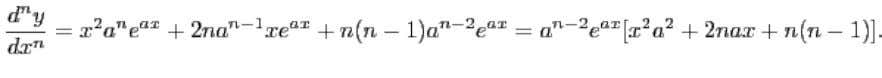 Leibnitz's Formula for the -th derivative of a product : This formula expresses the -th derivative