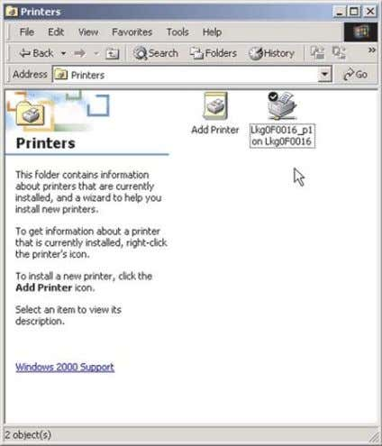 the No button. The Properties window will then open, and you can change the printer's set-