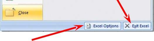 then click Exit Excel . If you have not saved your spreadsheet, a reminder box will
