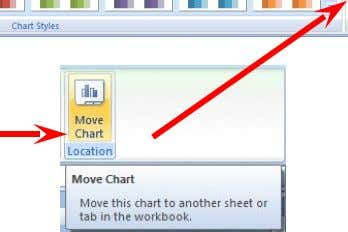 . When you click the Move Chart Location button a Move Chart menu screen will appear