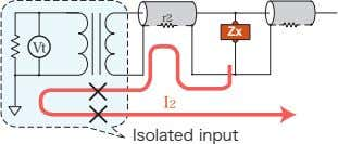 r2 Zx Vt I2 Isolated input