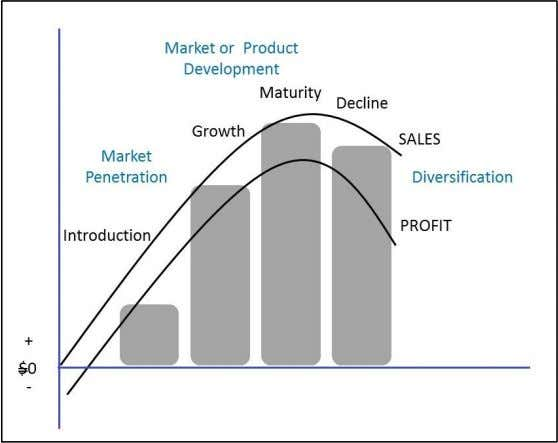new competencies thus presents the highest degree of risk. Graph 10. Product Life Cycle and Ansoff