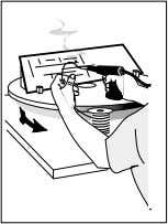 Use a turntable with fixture to hold the work; select a tool that reduces wrist deviations.