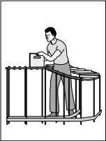 Use conveyors to reduce twisting and eliminate lifting and carrying.