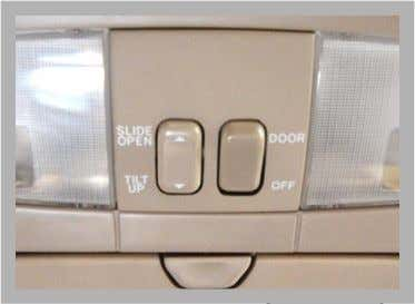 Body Electrical -W -Q -V -_  Accessories • Sliding Roof – This system is optional