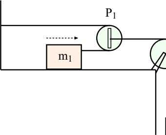 4.2. WORKED EXAMPLES 95 Figure 4.13: System of masses and pulleys for Example 14. Figure 4.14: