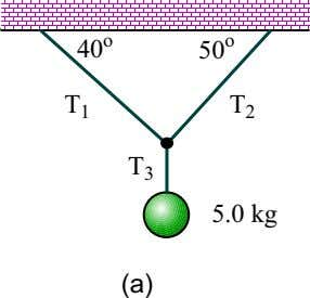 4.2. WORKED EXAMPLES 83 Figure 4.2: Masses suspended by strings, for Example 7. Figure 4.3: Force