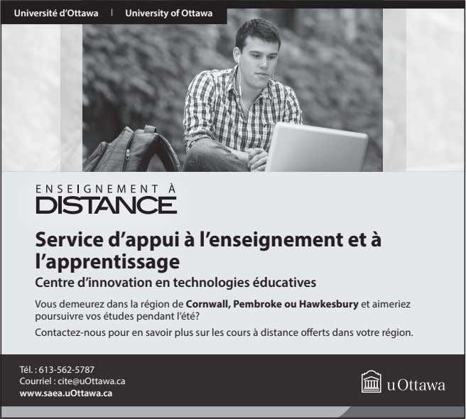 Université d'Ottawa | University of Ottawa Service d'appui à l'enseignement et à l'apprentissage Centre