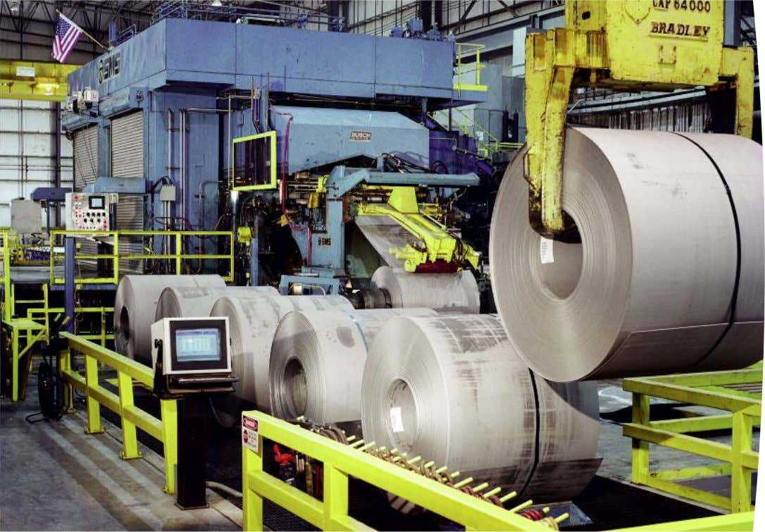View of the entry side with 2 reels. CVC ® -4 Reversing cold rolling mill,