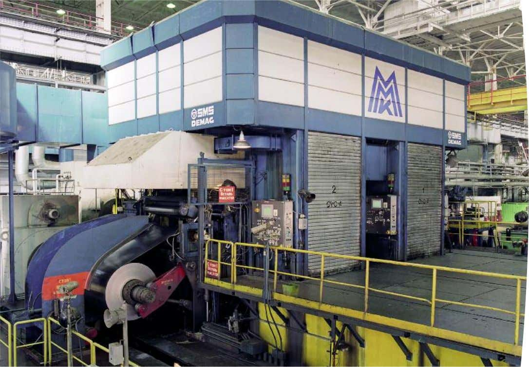 Overall view of the mill. CVC ® -4 Reversing cold rolling mill, CCM ® (Commissioned