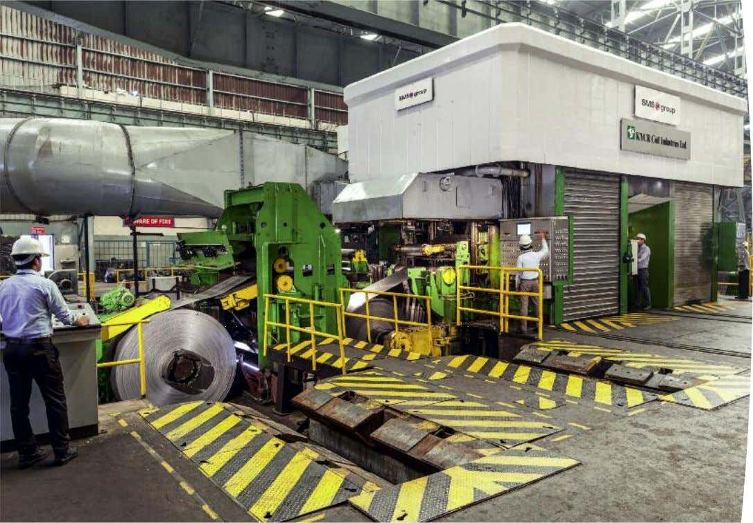CCM ® : Entryside. CVC ® plus 6 Reversing cold rolling mill, CCM ® (Commissioned