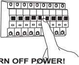 TURN OFF POWER! COUPEL LE COURANT! STROM ABSHALTEN! CORTE CORRIENTE!