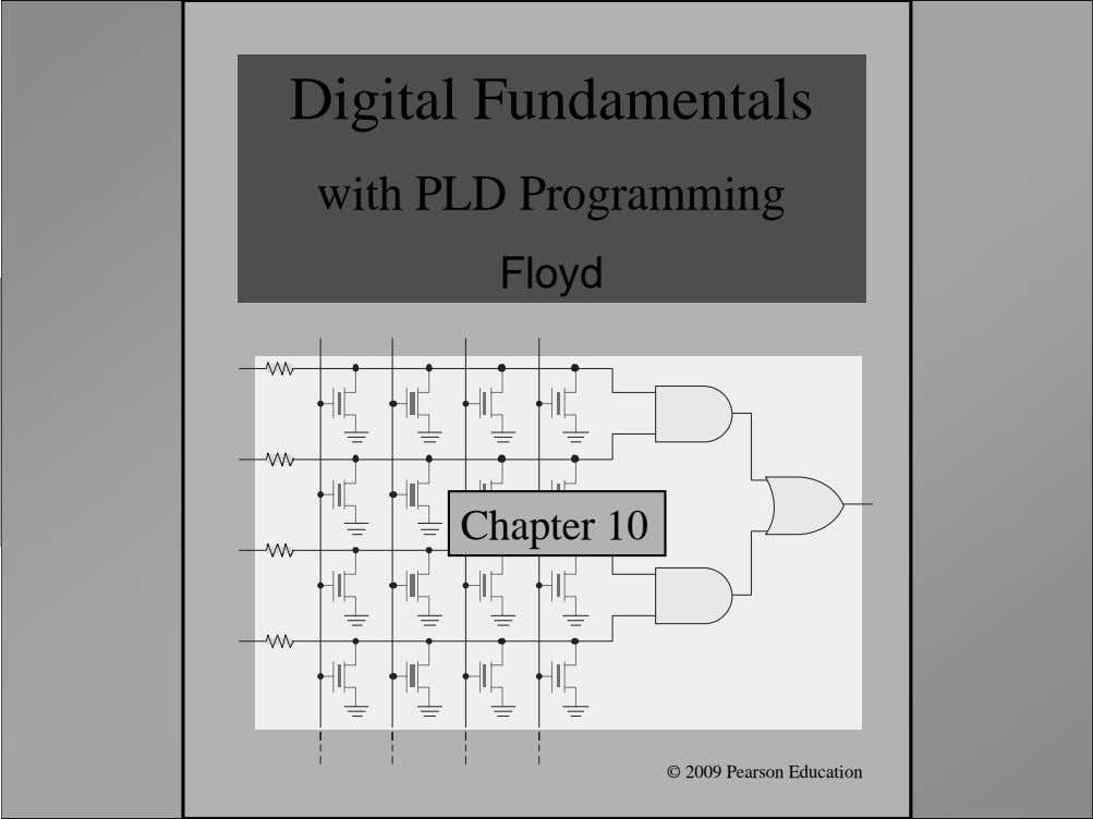 Digital Fundamentals with PLD Programming Floyd Chapter 10 Floyd, Digital Fundamentals, 10 th ed ©