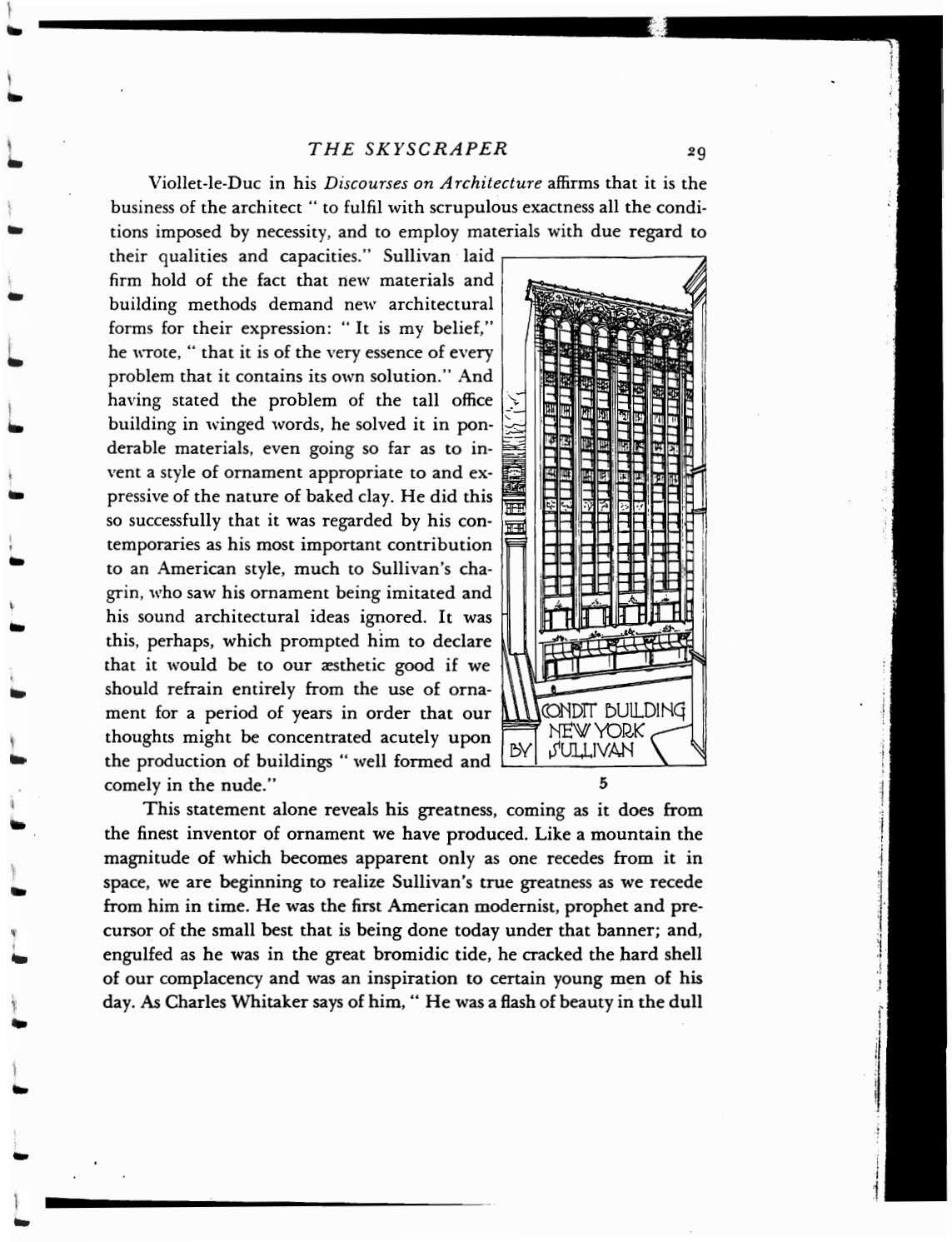 ! THE SKYSCRAPER Viollet-Ie-Duc in his Discourses on A rchitecture affirms that it is the