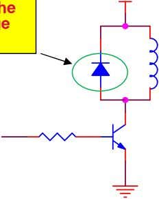 "in an inductive load must be dissipated, otherwise the ""inductive kickback"" can damage the switching device."