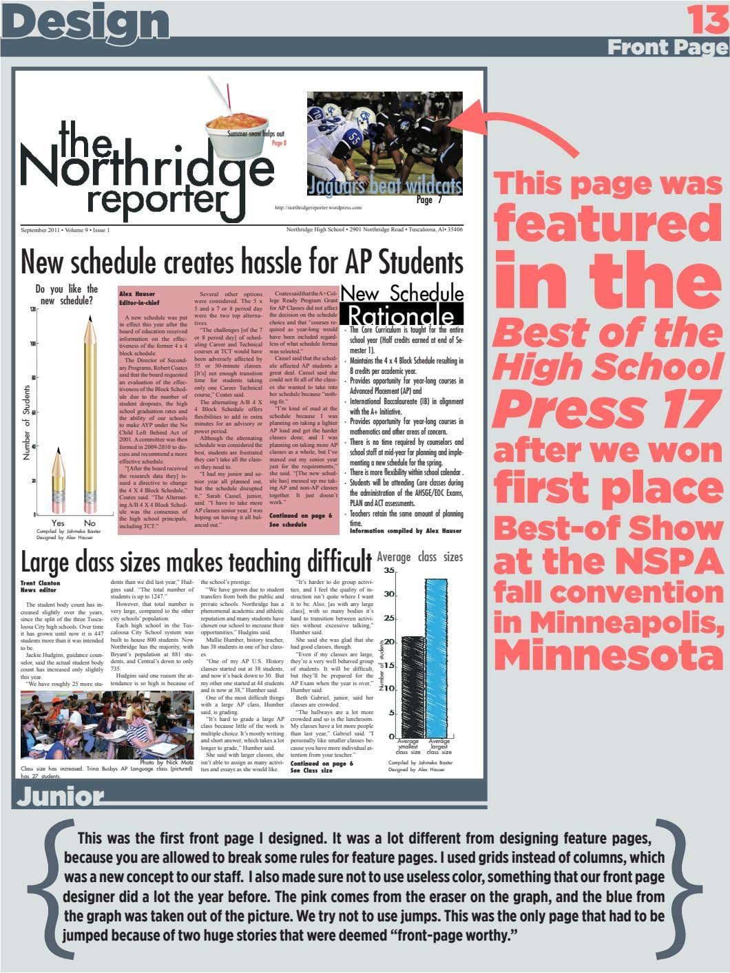 Design 13 Front Page Summer snow helps out Page 8 Jaguars beat wildcats This page