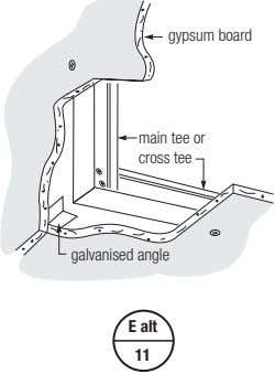 gypsum board main tee or cross tee galvanised angle E alt 11