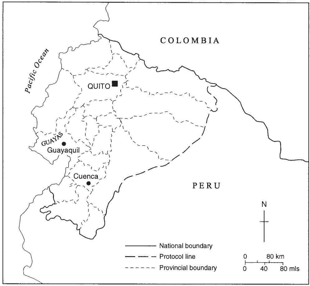 Situating Guayaquil 63 Fig. 3.1. The location of Guayaquil in Ecuador. The growth of metropolitan Guayaquil